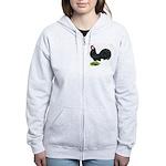 Rosecomb Rooster Women's Zip Hoodie