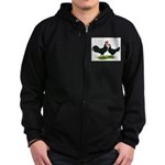 Whitefaced Spanish Chickens Zip Hoodie (dark)