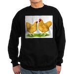 Buff Wyandotte Chickens Sweatshirt (dark)