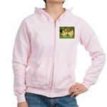 Wyandotte Rooster and Hen Women's Zip Hoodie