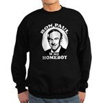 Ron Paul is my homeboy Sweatshirt (dark)