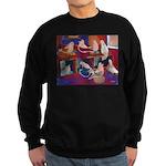Impressionist Swallows Sweatshirt (dark)