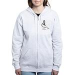 Ancient Shortface Pigeon Women's Zip Hoodie