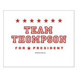 Team Thompson Small Poster