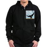 Pigeon Fly Home Zip Hoodie (dark)