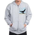 Pigeon Fly Home Zip Hoodie