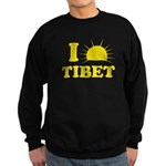 I Love Tibet Sweatshirt (dark)