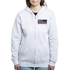Newt Gingrich Women's Zip Hoodie