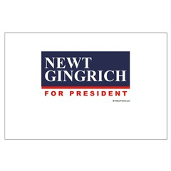 Newt Gingrich for President Large Poster