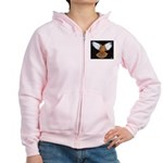 Domestic Flight Pigeon Women's Zip Hoodie