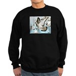 Flying Homer Pigeons Sweatshirt (dark)