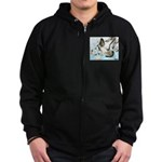 Flying Homer Pigeons Zip Hoodie (dark)