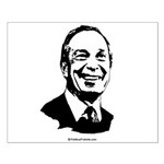 Michael Bloomberg Face Small Poster