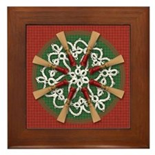 Bassoon Reed Holiday Framed Tile