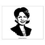 Condi Rice Face Small Poster