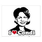 I Love Condi Small Poster
