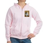 Indian Fantail Pigeon Women's Zip Hoodie