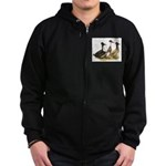 Crested Ducks Trio Zip Hoodie (dark)