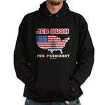 Jeb Bush for President Hoodie (dark)