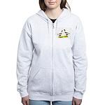 Pomeranian Geese Women's Zip Hoodie