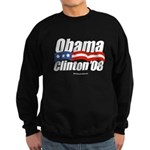 Obama Clinton 08 Sweatshirt (dark)