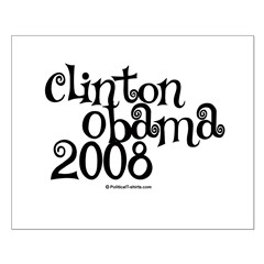 Clinton / Obama 2008 Posters