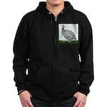 Lavendar Guinea Zip Hoodie (dark)