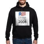 Obama / Clinton 2008 Hoodie (dark)