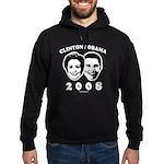 Clinton / Obama 2008 Hoodie (dark)