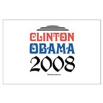 Clinton / Obama 2008 Large Poster