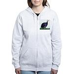 Royal Purple Guineafowl Women's Zip Hoodie