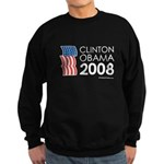 Clinton / Obama 2008 Sweatshirt (dark)