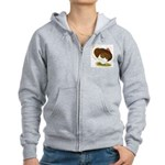Bourbon Red Tom Turkey Women's Zip Hoodie