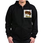 Bourbon Red Tom Turkey Zip Hoodie (dark)