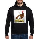 Bourbon Red Hen Turkey Hoodie (dark)