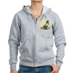 Black Mottle West Women's Zip Hoodie