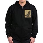 Brown Self West Zip Hoodie (dark)