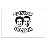 Clinton + Obama Large Poster