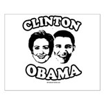 Clinton + Obama Small Poster