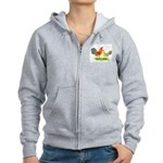Blue Ginger Old English Women's Zip Hoodie