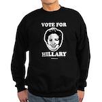Vote for Hillary Sweatshirt (dark)