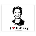 I heart Hillary Small Poster
