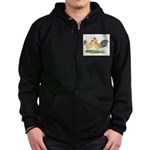 Blue-tail Buff OE Zip Hoodie (dark)