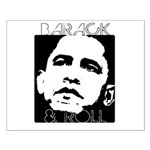 Obama 2008: Barack & Roll Small Poster