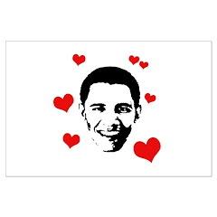 I heart Barack Obama Large Poster
