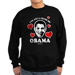 I've got a crush on Obama Sweatshirt (dark)