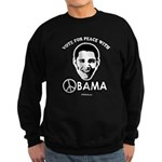 Vote for peace with Obama Sweatshirt (dark)