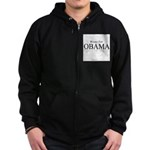 Women for Obama Zip Hoodie (dark)