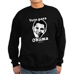 Voto para Obama Sweatshirt (dark)