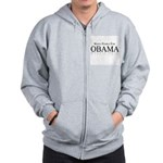 White people for Obama Zip Hoodie